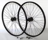 27,5 Zoll 650B Fahrrad Laufradsatz Pro Disc Hohlkammerfelge schwarz Shimano Deore XT756 schwarz Niro schwarz - 1