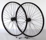 29 Zoll Fahrrad Laufradsatz Pro Disc Hohlkammerfelge schwarz Shimano Deore XT756 schwarz Niro schwarz - 1