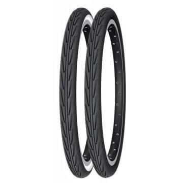 Michelin Rennradreifen City'J, 44-406 (20X1.75), schwarz/weiß, FA003466037 - 1