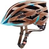 UVEX Erwachsene Fahrradhelm I-VO CC, Brown/Light Blue Mat, 56-60 cm, 4104230417 - 1